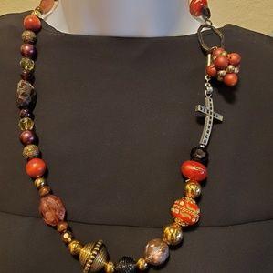 Ooak repurposed women's fashion necklace